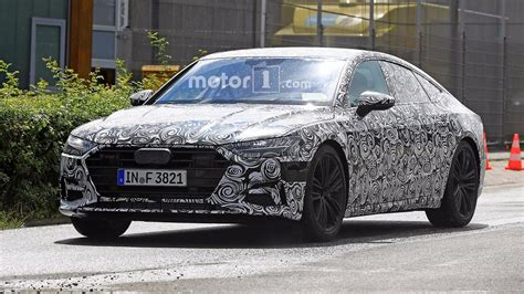 luxury car news reviews spy shots photos and videos 2018 audi a7 spied unsuccessfully hiding production taillights