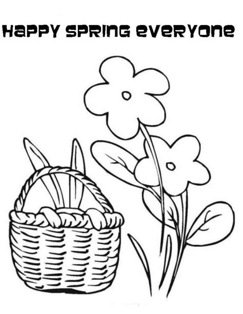 happy flower coloring page happy spring coloring pages coloring home