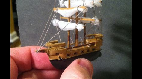 miniature balsa wood boat carving time lapse
