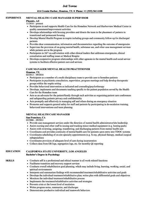 Mental Health Resume by Mental Health Manager Resume Sles Velvet