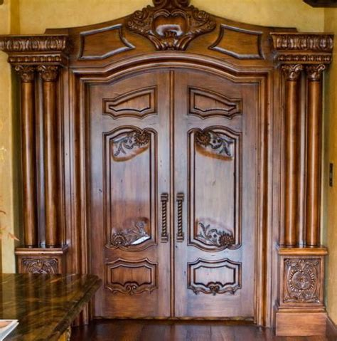 handmade custom carved interior doors by chateau