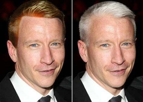 cnn reporter side gray hair dyed anderson cooper please don t dye your hair
