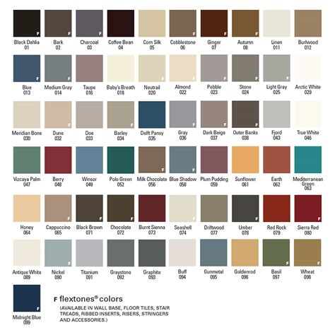 vinyl colors flexco rubber flooring vinyl flooring 187 color refills