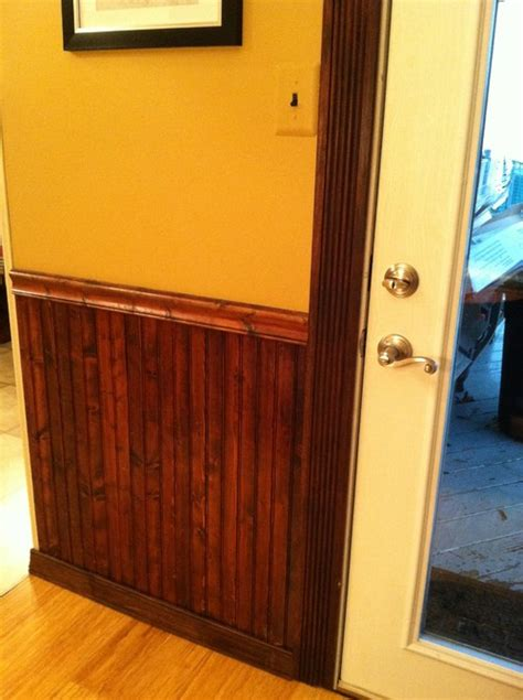 Stained Wainscoting stained wainscot