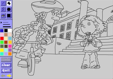 blockhead tony s coloring book as told by coloring book characters on