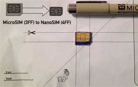 t mobile sim card cut template how to cut a micro sim into a nano sim your repair