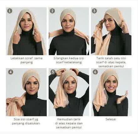 tutorial gambar hijab terbaru contoh gambar tutorial hijab modern simpel terbaru 2016