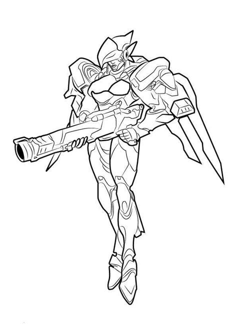 D Va Coloring Page by N De Malvorlage Overwatch Pharah