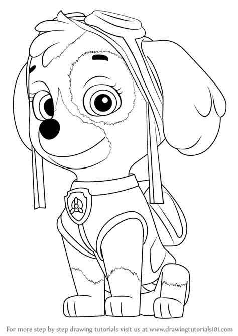 learn how to draw paw patrol badge paw patrol step by step drawing learn how to draw skye from paw patrol paw patrol step