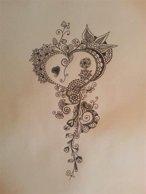 mandala zen tattoo zentangle doodle rebecca watkins heart tetov 193 n 205 čko