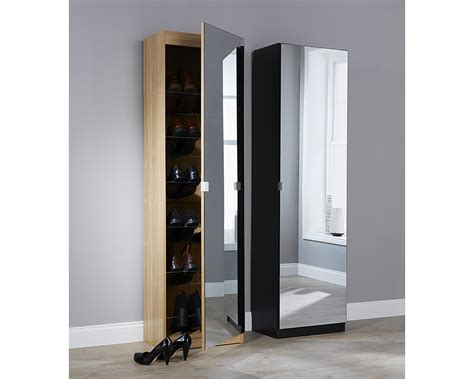 Livingroom Colours Mirrored Shoe Cabinet 180 Cm Available In 3 Colours