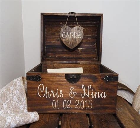 Wedding Card Chest by Personalized Wedding Card Chest With Slot Wedding Card