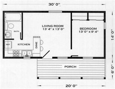 one floor small house plans north bay cabin plan