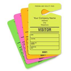 hanging parking pass template guest parking passes customize