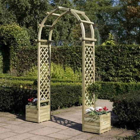 Arch With Planters by Rowlinson Arch With Planters Garden