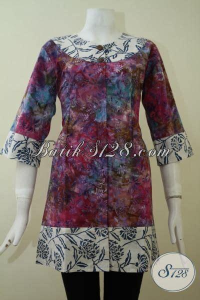 Baju Batik Perempuan Dewasa baju batik gradasi motif unik pas buat perempuan muda maupun dewasa pakaian batik lengan 3 4