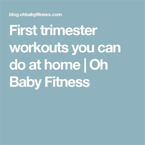 best 25 trimester workout ideas on