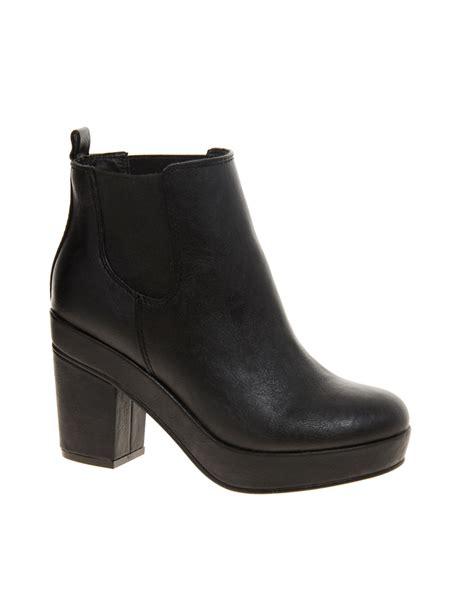 asos atlanta chelsea ankle boots in black lyst