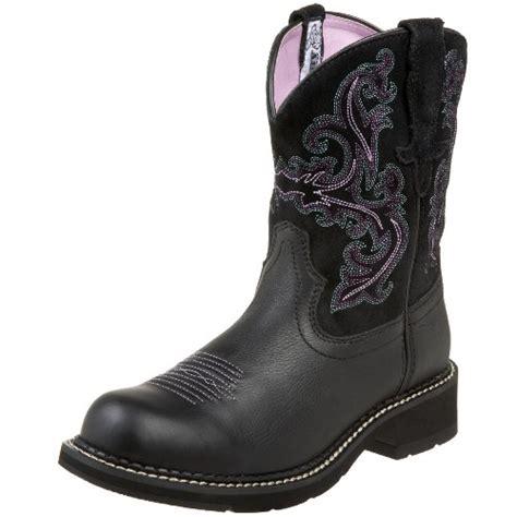 boots ariat s fatbaby ii boot black deertan orchid