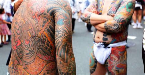 tattoo trouble yakuza arrested  bathhouse incident