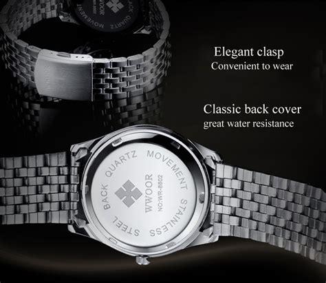 Jam Tangan Pria Cowok Dw Silver Leather Black wwor jam tangan analog pria 8802 silver black jakartanotebook