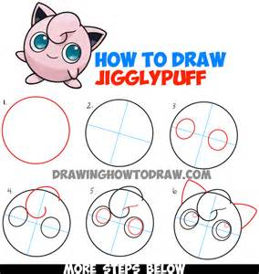 How To Draw A Step By Step Easy How To Draw Jigglypuff From Easy Step By Step