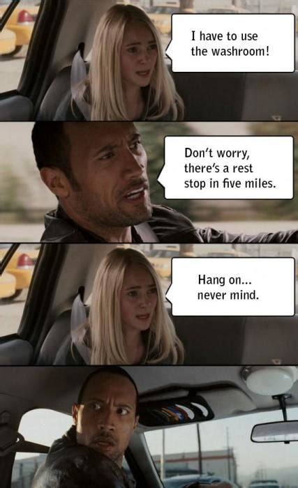 The Rock Meme Car - the rock driving know your meme