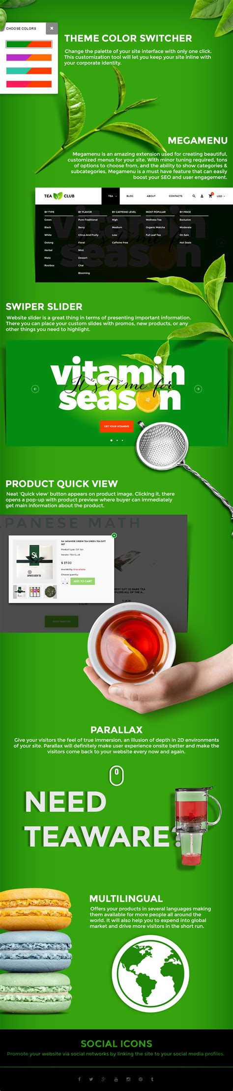 shopify themes tea tea club responsive shopify theme by jetimpex themeforest