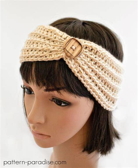 crochet patterns headbands www pixshark images free crochet pattern marigold headband ear warmers