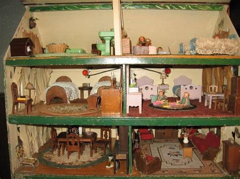 1930s dolls house inside 1930 s doll house vintage kids pinterest