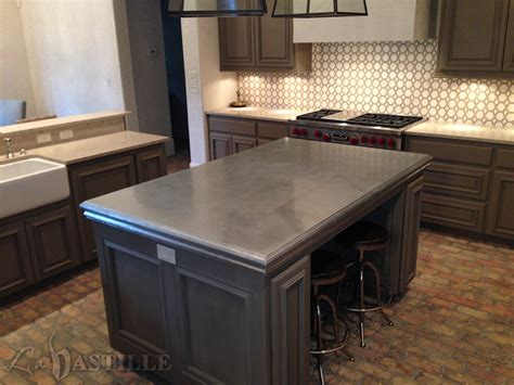 zinc table top pros and cons zinc countertop bastille metal works kitchen ideas