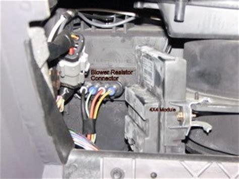 ford explorer sport trac blower motor resistor climate blower motor not working 2004 sport trac fixya