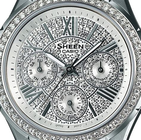 Casio Sheen She 3504d 7a casio she 3504 swarovski