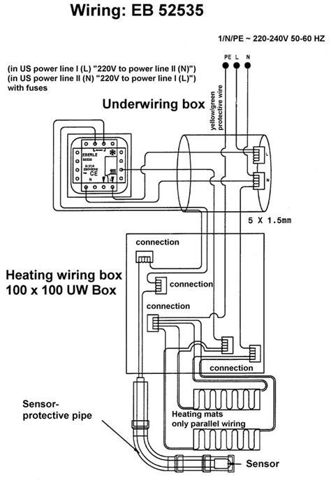 wiring diagram for underfloor heating contactor wiring