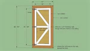 How To Build Swinging Barn Doors Simple Design For Your Shed Door Plan Simple Measure