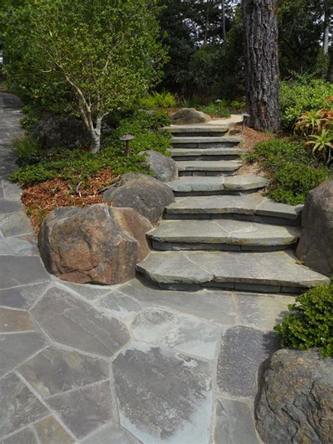 Flagstone Patio Steps by Flagstone Step Designs Landscaping Network