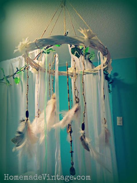 Diy Feather Chandelier Large Boho Feather Chandelier Craft Diy Vintage Look Decorating Decor Craft Learn How To