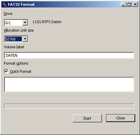 fat32 gui format allocation unit size how to format a large hard drive with either fat or fat32