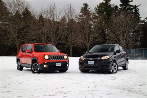 honda jeep 2016 comparison review 2016 honda hr v vs 2015 jeep renegade