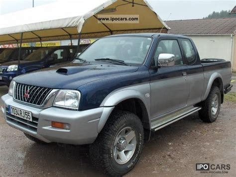 2002 mitsubishi l200 club cab 2 5td gls car photo and specs 2002 mitsubishi l200 club cab 2 5td gls car photo and specs