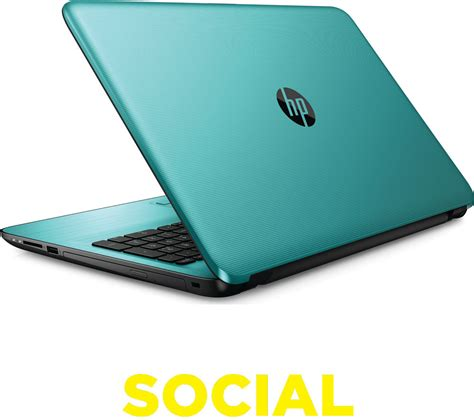 hp color laptops hp 15 ba077sa 15 6 quot laptop teal deals pc world