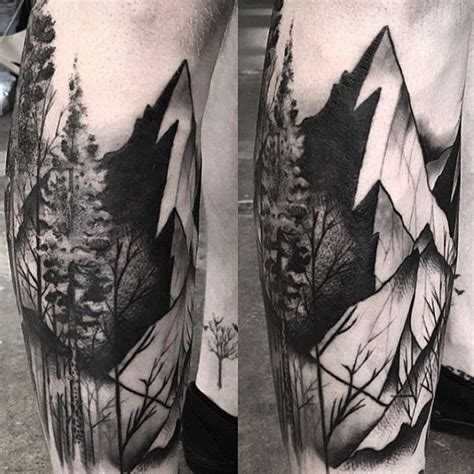 mountain tattoo sleeve 75 tree sleeve designs for ink ideas with