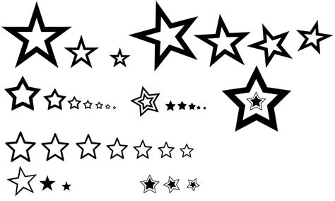star outline tattoo clipart best