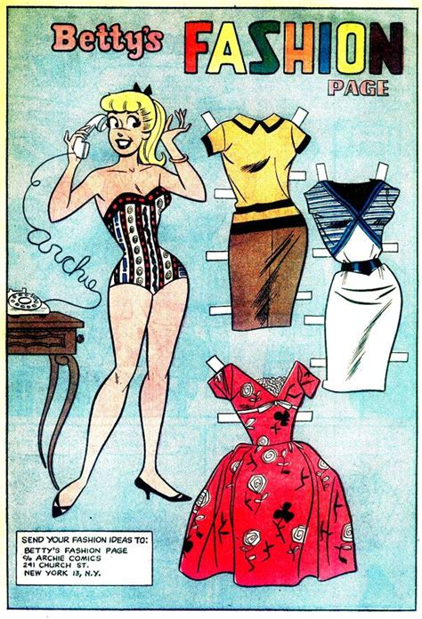 china doll 2 hoover quot betty s fashion page quot from archie s betty