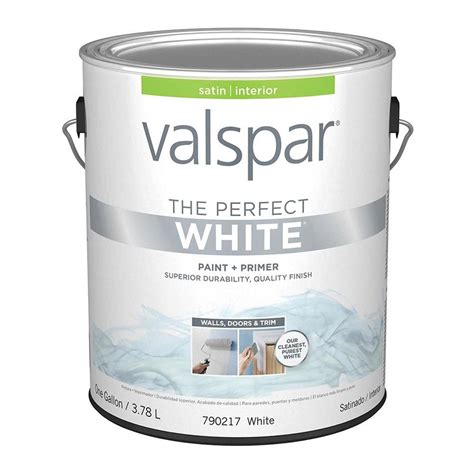 Perfect Paint | shop valspar perfect white satin latex interior paint and