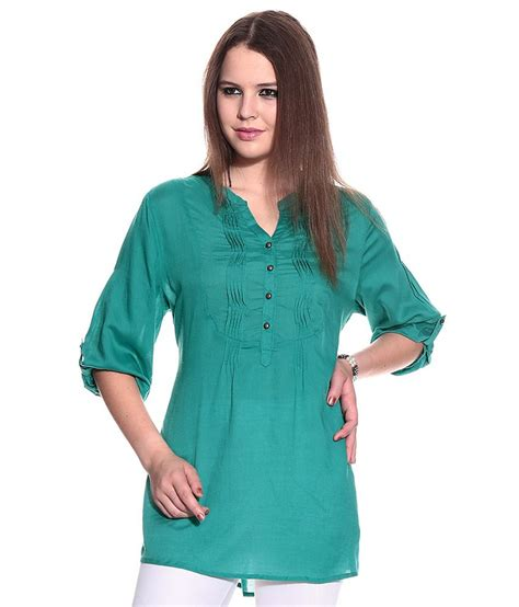 N1 Tenun Blouse Tunic buy mustard green solids viscose tunic at best prices in india snapdeal
