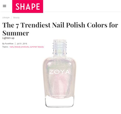 the best summer nail polish shades for your skin tone best nail polish shades to brighten your summer zoya blog
