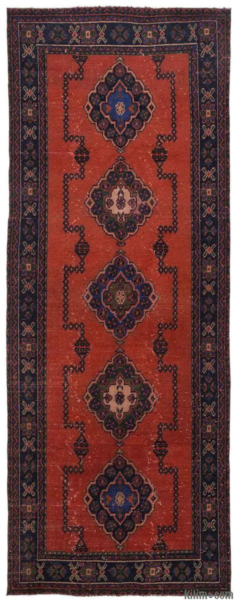 Vintage Runner Rug with K0012706 Turkish Vintage Runner Rug Kilim Rugs Overdyed Vintage Rugs Made Turkish Rugs