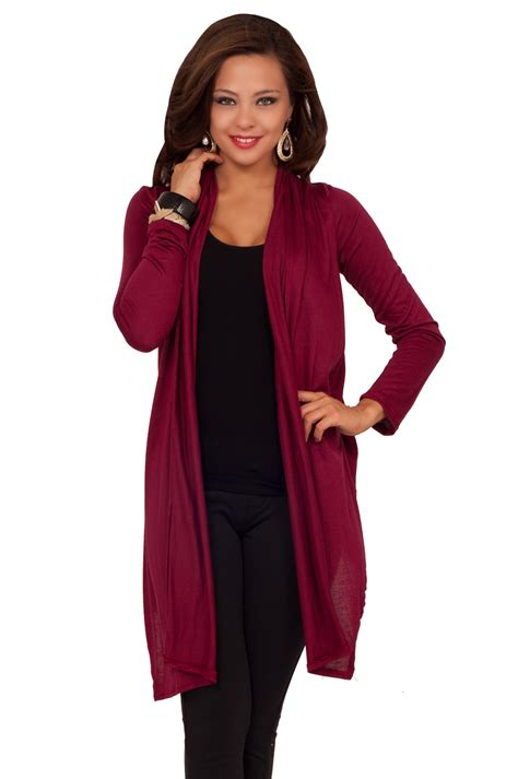 Sweater Trendy fitted sleeved knee length casual stretch bolero shrug trendy cardigan wrap