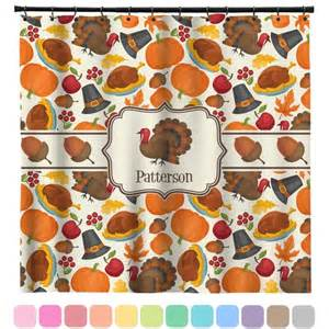 traditional thanksgiving shower curtain personalized
